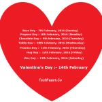 Valentine Week List 2016 Dates Days Name Schedule Complete List